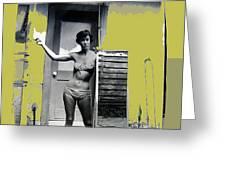 Carolyn Hastings Collage Historic Adobe Building Tucson Az 1967-2013 Greeting Card