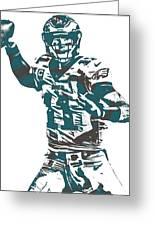 Carson Wentz Philadelphia Eagles Pixel Art 5 Greeting Card