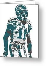 Carson Wentz Philadelphia Eagles Pixel Art 6 Greeting Card
