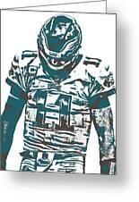 Carson Wentz Philadelphia Eagles Pixel Art 7 Greeting Card