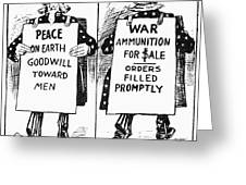 Cartoon: U.s. Neutrality Greeting Card