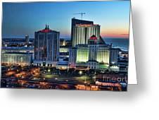 Casinos Atlantic City  Greeting Card
