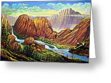 Castle Rock Valley Greeting Card