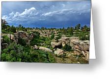 Castlewood Canyon And Rain Greeting Card