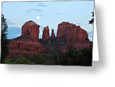 Cathedral Rock Moon 081913 A2 Greeting Card