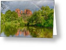 Cathedral Rock Rainbow Greeting Card