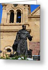 Catholic Cathedral Sante Fe Nm Greeting Card