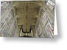 Ceiling Of Kings College Chapel Greeting Card