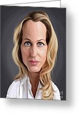 Celebrity Sunday - Gillian Anderson Greeting Card