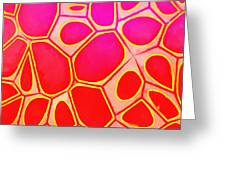 Cells Abstract Three Greeting Card