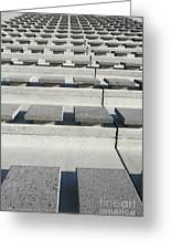 Cement Seats Greeting Card