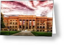 Central High School - Pueblo Colorado Greeting Card