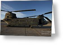 Ch-47 Chinook Helicopter On The Tarmac Greeting Card