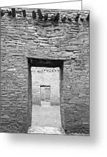 Chaco Canyon Doorways 1 Greeting Card