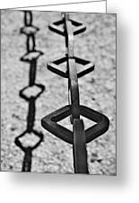 Chained Shadows Greeting Card