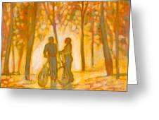 Chance Encounter Greeting Card