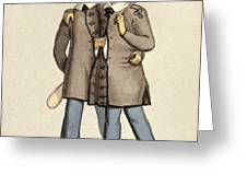 Chang And Eng, Siamese Twins Greeting Card