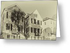Charleston Style Houses Greeting Card