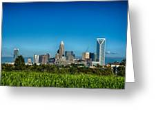 Charlotte North Carolina Cityscape Of Downtown Greeting Card