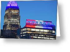 Charlotte North Carolina Skyline City View Greeting Card