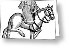 Chaucer: The Man Of Law Greeting Card