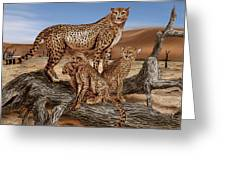 Cheetah Family Tree Greeting Card