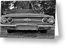 Chevrolet Bel Air Black And White 2 Greeting Card