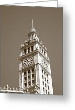 Chicago Clock Tower Greeting Card
