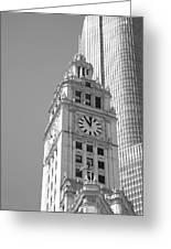 Chicago Clocktower Greeting Card