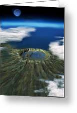 Chicxulub Crater, Illustration Greeting Card