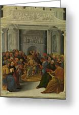 Christ Disputing With The Doctors Greeting Card