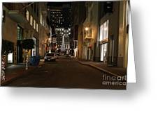 Christmas Eve 2009 On Maiden Lane In San Francisco Greeting Card by Wingsdomain Art and Photography