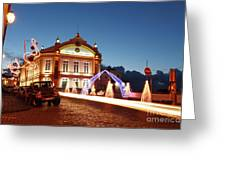 Christmas In Ribeira Grande Greeting Card
