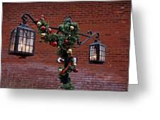 Christmas Lamps Greeting Card