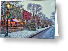 Christmas On Main Street Greeting Card