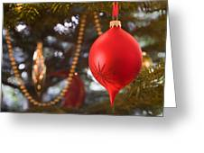 Christmas Tree Decorations Greeting Card