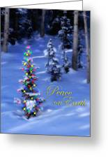Christmas Tree On A Snowy Hillside Greeting Card by Utah Images