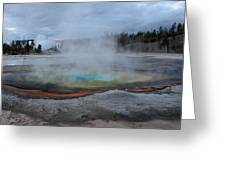 Chromatic Pool Yellowstone Greeting Card