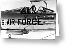 Chuck Yeager, Usaf Officer And Test Greeting Card