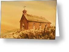 Church Manhattan Nevada Greeting Card