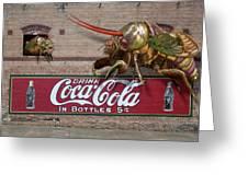 Cicada Turf War Greeting Card