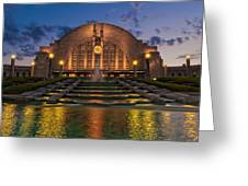 Cincinnati Museum Center At Twilight Greeting Card by Keith Allen