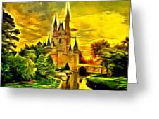 Cinderella Castle - Van Gogh Style Greeting Card