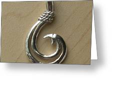 Circle Hook Pendant Greeting Card