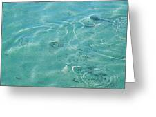 Circles On The Water Greeting Card