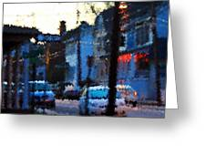 City As A Painting Greeting Card