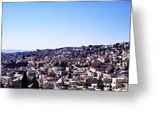 City Of Nazareth From The Saint Gabriel Bell Tower Greeting Card