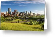 City Skyline Of Calgary, Canada Greeting Card