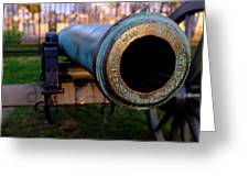 Civil War Cannon 1862 In Gettysburg Pa Greeting Card