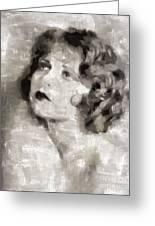 Clara Bow Vintage Hollywood Actress Greeting Card